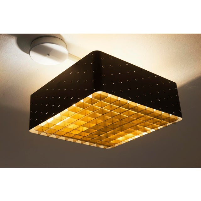 Mid-Century Modern Paavo Tynell Model # 9068 Ceiling Lamp in Black, Finland, 1960s For Sale - Image 3 of 11