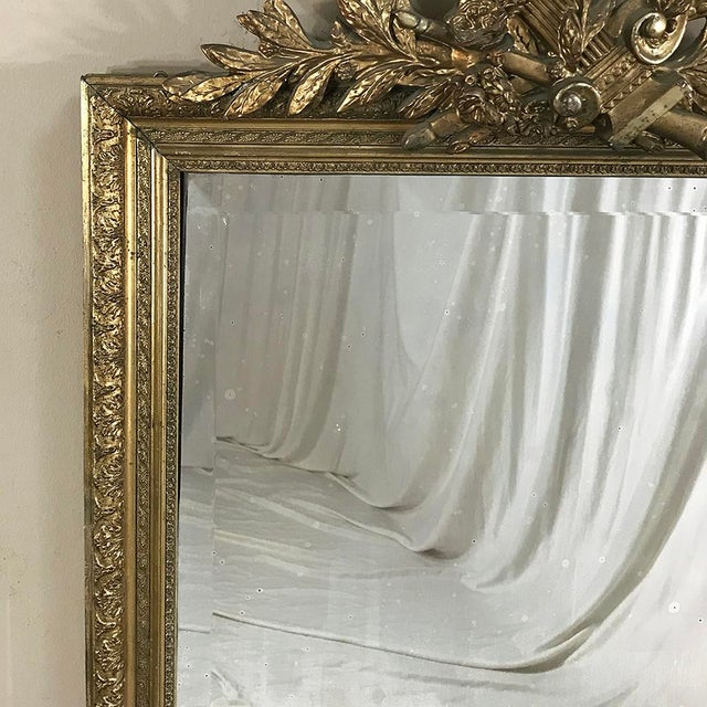 Glass 19th Century French Louis XVI Gilded Mirror For Sale - Image 7 of 12