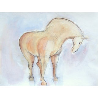Spring Tang Horse Painting by Heidi Lanino For Sale