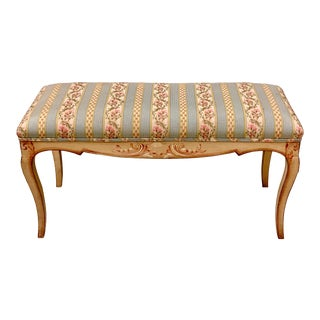 Hand Painted Venetian Bench For Sale