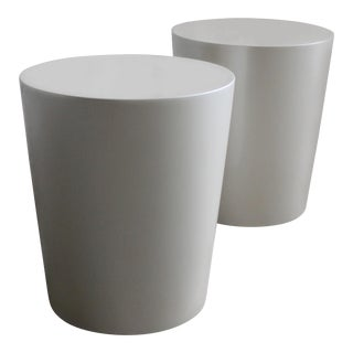 Modern Tromonto Lacquered Conical Round Side Tables - a Pair For Sale