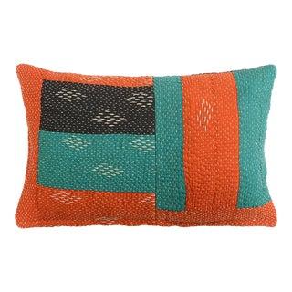 Boho Chic Cutout Orange Pillow For Sale