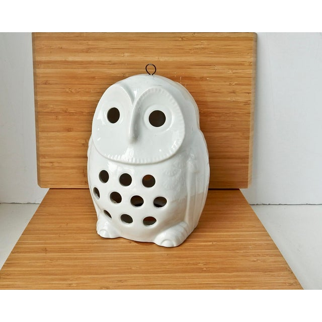Vintage Owl Lantern Candle Holder - Image 2 of 6