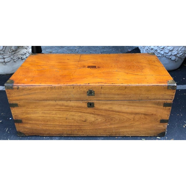 Antique 19th C Chinese Camphor Chest Trunk or Side Table For Sale In Los Angeles - Image 6 of 7