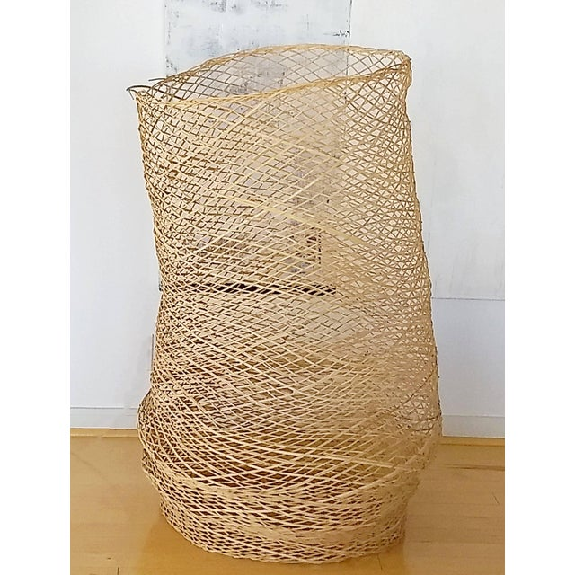 Modern Contemporary Linda Kelly Contemporary Woven Basket Standing Floor Art Sculpture For Sale - Image 3 of 7