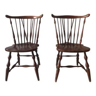 Late 18 Century Antique Windsor Chairs- A Pair For Sale