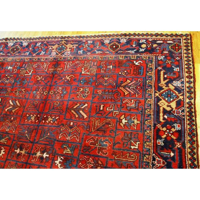 1900s Handmade Antique Persian Heriz Rug 7.3' X 10.1' For Sale In New York - Image 6 of 11