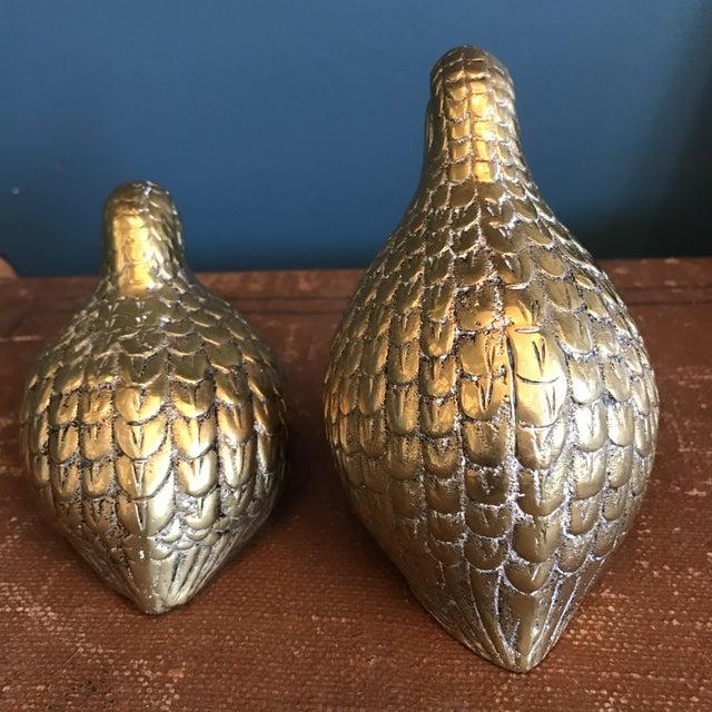Brass Quails - A Pair - Image 4 of 6