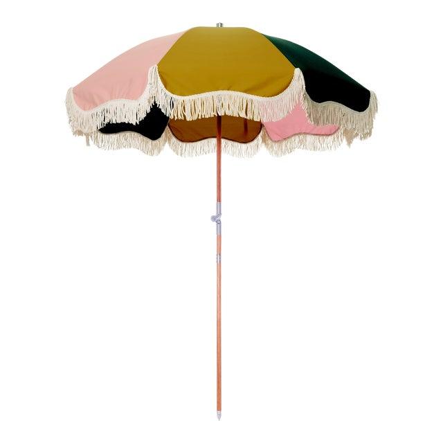 Premium Beach Umbrella - Panel Cinque with Fringe For Sale
