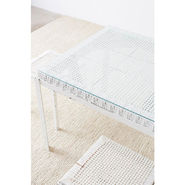 Danny Ho Fong California Modern Woven Cane Dining Table Set For Sale - Image 11 of 13