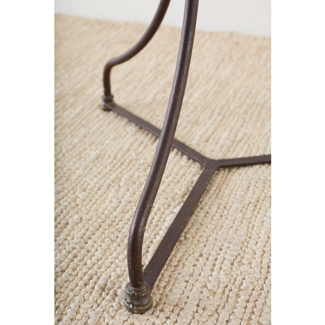 French Belle Époque Iron and Marble Bistro Cafe Table For Sale - Image 10 of 13