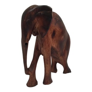 Hand Carved Wooden Elephant For Sale
