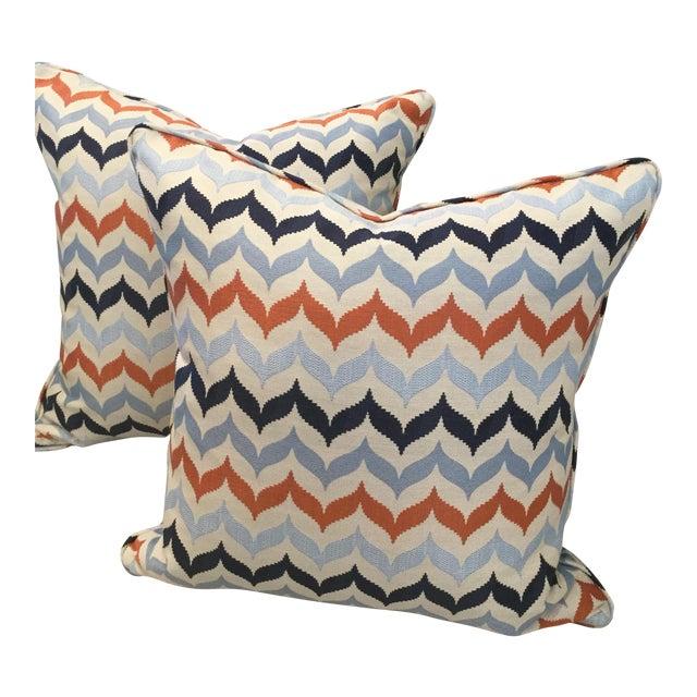 Kravet Andora Castaway Pillows - A Pair For Sale