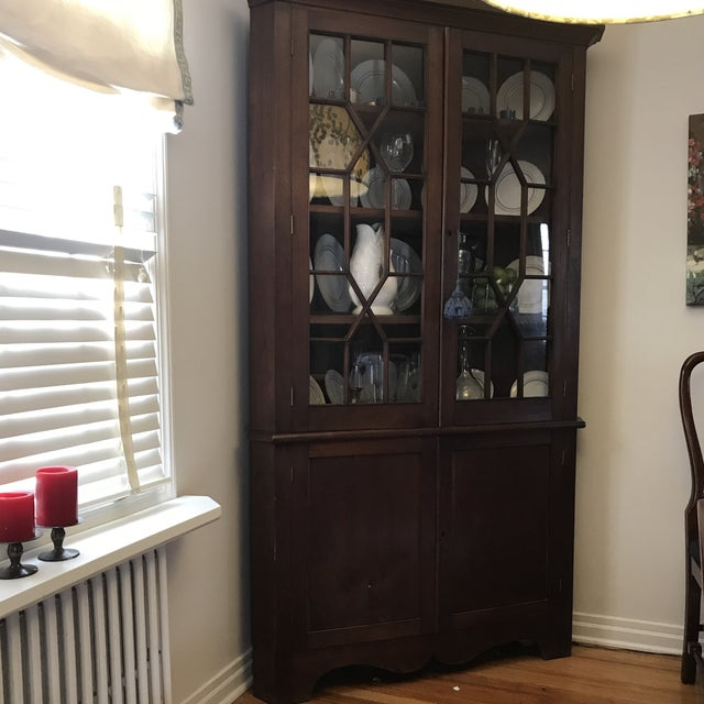 Antique Corner China Cupboard For Sale In New York - Image 6 of 10