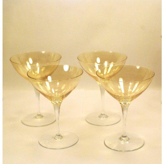 Bohemia Crystal Glassware Gold Iridescent - S/17 - Image 9 of 9