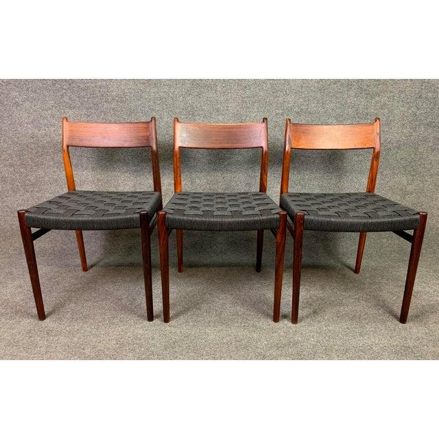 Sibast Møbler Set of Six Vintage Mid Century Danish Modern Rosewood Dining Chairs Model #418 by Arne Vodder for Sibast For Sale - Image 4 of 12
