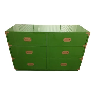 Dixie Campaign Dynasty Green Lacquered Dresser