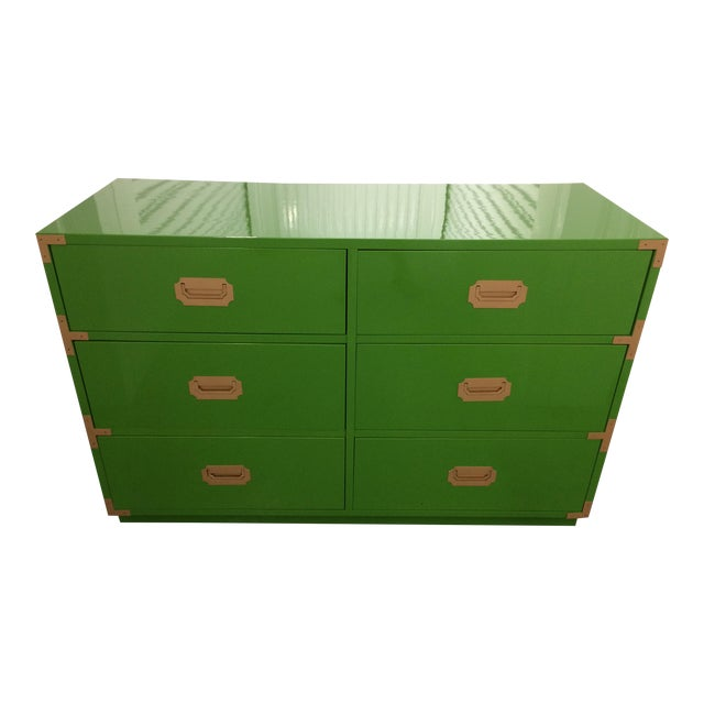 Dixie Campaign Dynasty Green Lacquered Dresser - Image 1 of 6