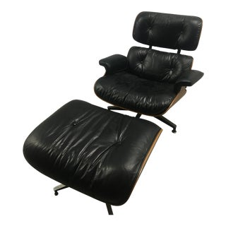 1970's Herman-Miller Eames Lounge Chair & Ottoman in Rosewood For Sale