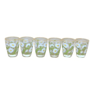 Libbey Shasta Daisy Glasses - Set of 6 For Sale