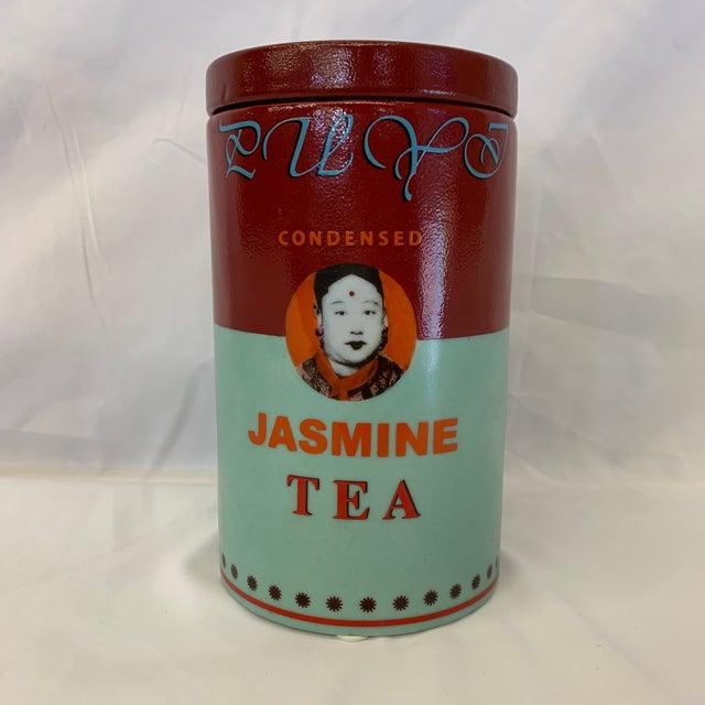 Fabienne Jouvin Paris Pop Art Ceramic Tea Jar For Sale - Image 11 of 11