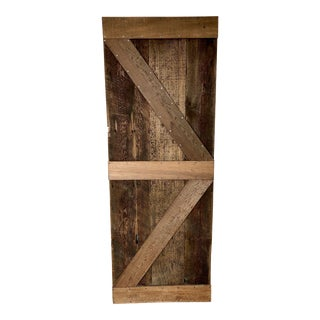 Modern Rustic Sliding Farmhouse Barn Door For Sale