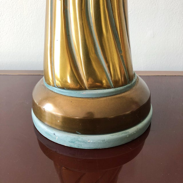 Mid 20th Century Twisted Knot Bronze Mid Century Lamp in the Style of John Dickinson For Sale - Image 5 of 8