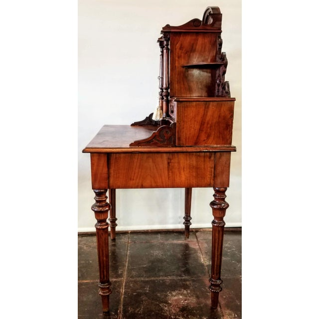 North German Gründerzeit Period Writing Desk in the Form of Historicism With Neoclassic Decoration For Sale In San Diego - Image 6 of 9