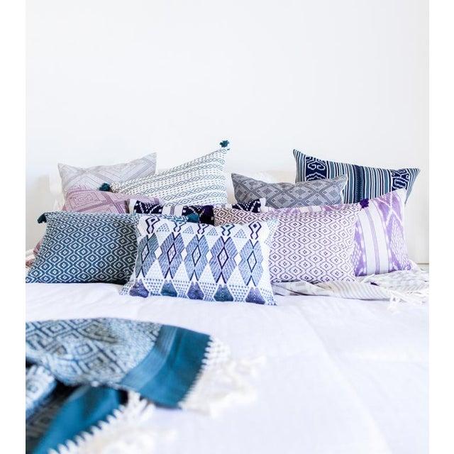 "Handwoven Mauve Diamond Pillow - 18"" × 18"" - Image 7 of 8"