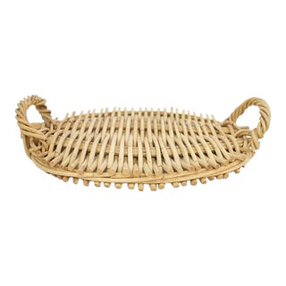 Wicker Serving Tray For Sale