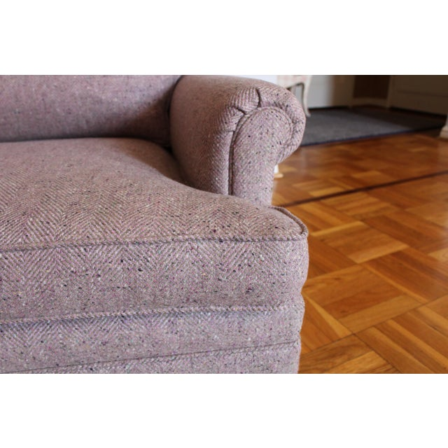 Traditional Custom Made Upholstered Lounge Chairs - A Pair For Sale - Image 3 of 8