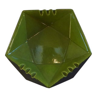 1960s Faceted Ceramic Ashtray Bowl