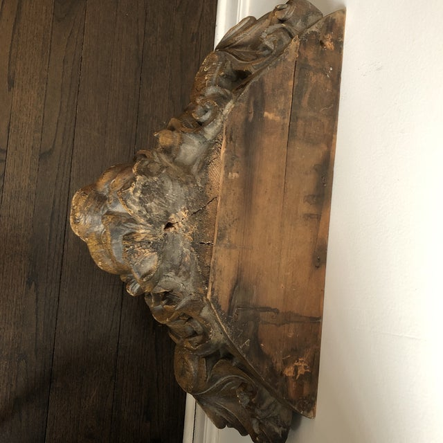 Wood 19th Century Carved Architectural Wall Shelf For Sale - Image 7 of 10
