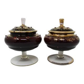 Vintage Venetian Compotes - a Pair For Sale