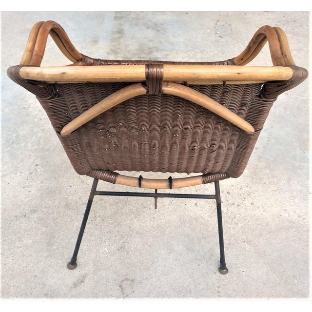 Mid-Century Rattan Chair - Image 5 of 6