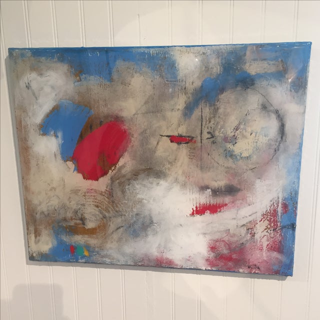 "Taffi Laing ""Poem"" Abstract Original Painting - Image 2 of 8"