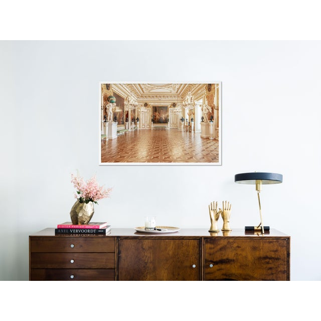 Contemporary Royal Castle Warsaw Knights Hall by Richard Silver in White Framed Paper, Medium Art Print For Sale - Image 3 of 4