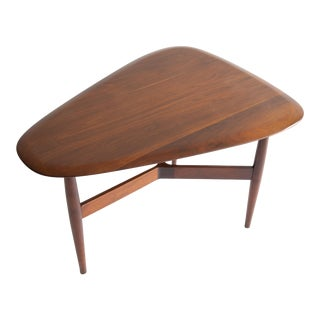 1960s Brown Saltman Guitar Pick End Table For Sale