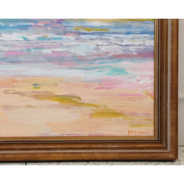 Mid 20th Century Stunning Impressionist Seascape Painting by Juan Pepe Guzman For Sale - Image 5 of 9