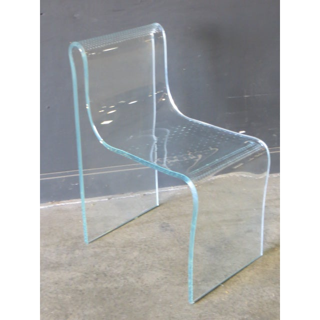 Fiam Italia 1980s Vintage Fiam Glass Ghost Chair For Sale - Image 4 of 12