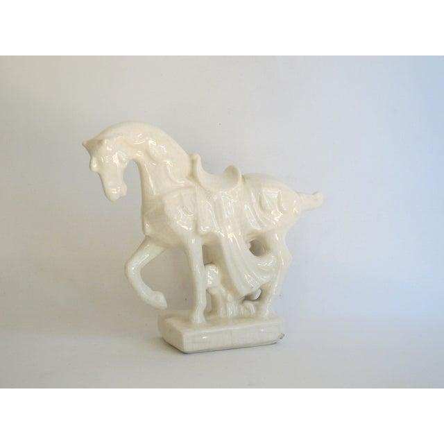 White Chinese Porcelain Horse - Image 4 of 8