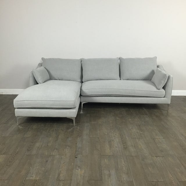 Modern Canvas Sectional Sofa - Image 2 of 8