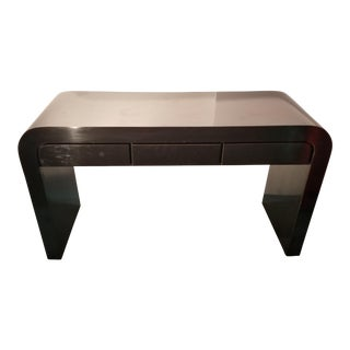 1980's Black Laminate Waterfall Desk For Sale
