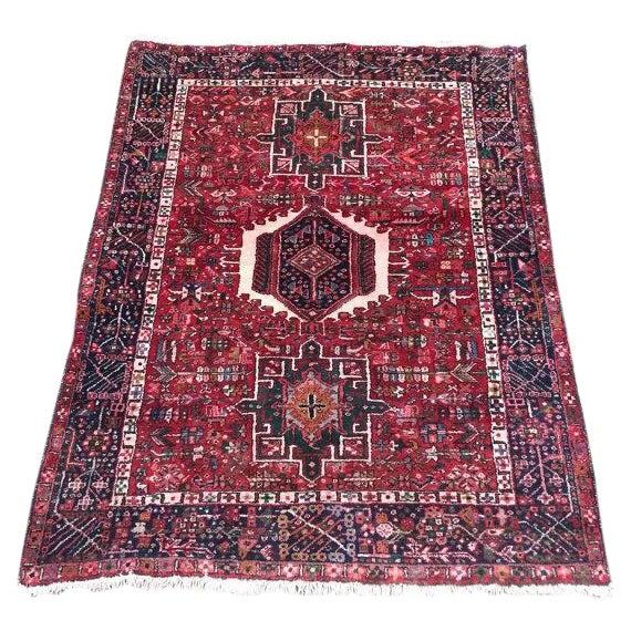Antique Persian Karajeh Rug - 5′1″ × 6′2″ - Image 1 of 6