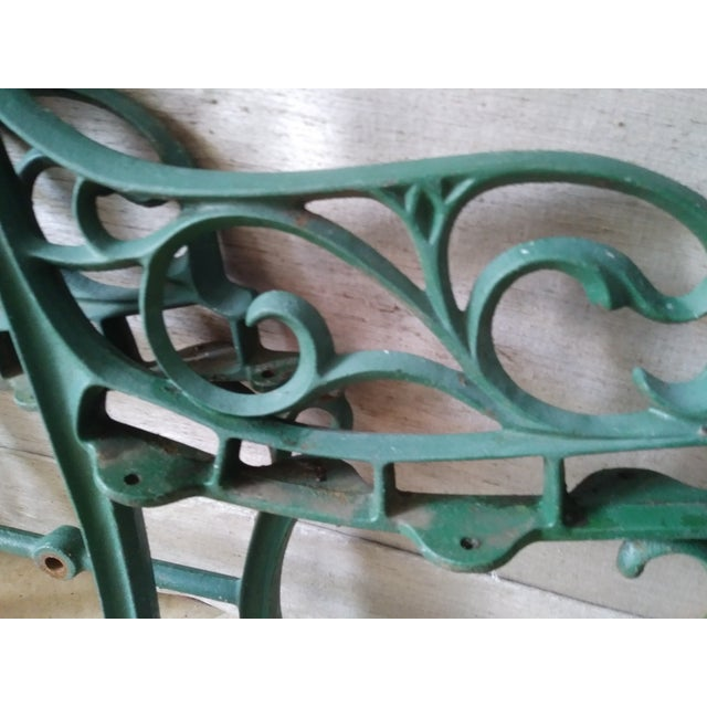 Vintage Iron Park Bench For Sale - Image 4 of 9