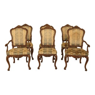 1970s Vintage Karges Louis XV Style Dining Chairs - Set of 6 For Sale