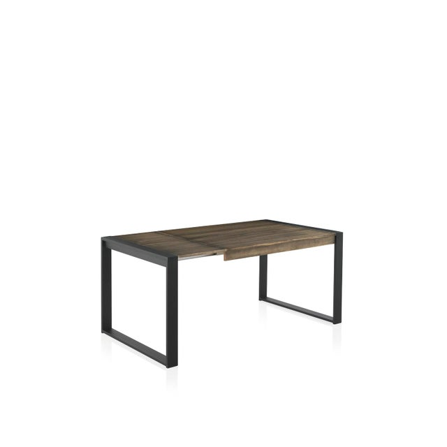 About New extendable dining table for indoor and outdoor with wood top and iron structure. You can choose the color, the...