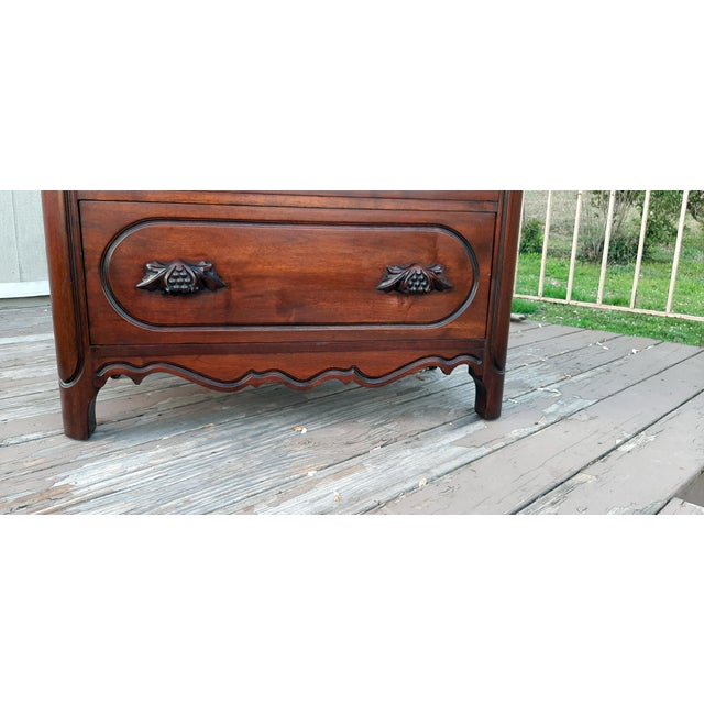 Wood 1948 Davis Cabinet Company Lillian Russell Black Walnut Chest of Drawers For Sale - Image 7 of 13