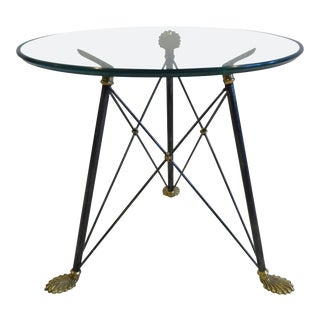 Regency Style Glass Table For Sale