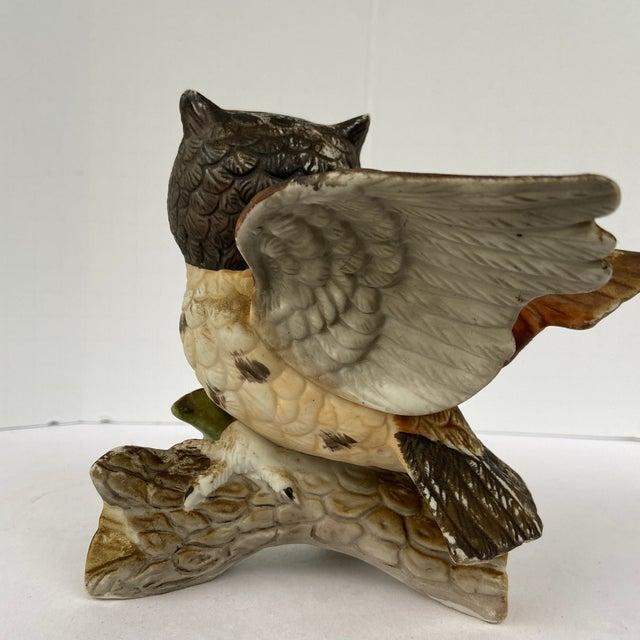 Late 20th Century Vintage Ceramic Owl Figurine For Sale - Image 5 of 11